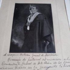 Militaria: MILLAN ASTRAY AL GENERAL JOAQUÍN GARCIA PALLASAR, DEDICATORIA FIRMADA DE SU PUÑO Y LETRA, AÑO 1941.. Lote 259023575