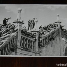 Militaria: FOTOGRAFIA DE LA INAGURACION DEL FERROCARRIL SANTIAGO A CORUÑA, 14 DE ABRIL DE 1943, FOTO ZEGRI, MAD. Lote 261462345