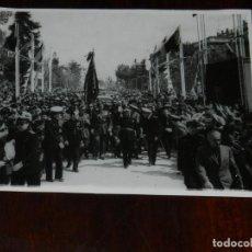 Militaria: FOTOGRAFIA DEL GENERAL FRANCO EN VISITA A ZAMORA CON MOTIVO DE LA INAGURACION DEL VIADUCTO DEL ESLA,. Lote 261522315