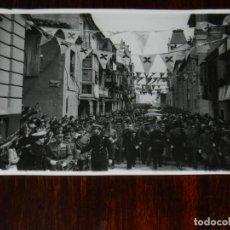 Militaria: FOTOGRAFIA DEL GENERAL FRANCO EN VISITA A ZAMORA CON MOTIVO DE LA INAGURACION DEL VIADUCTO DEL ESLA,. Lote 261522455