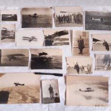 Militaria: INTERESANTE LOTE DE FOTOGRAFÍAS DEL PILOTO DE AVIACIÓN RAFAEL BOTANA SALGADO.. Lote 261819005
