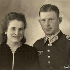 Militaria: ORIGINAL DE EPOCA - III REICH - SOLDADO ALEMAN HEER - NAZI SOLDUCH WEHRMACH 140 X 90 MM FOTO ESTUDIO. Lote 261833150