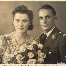 Militaria: ORIGINAL DE EPOCA - III REICH - SOLDADO ALEMAN LUTWAFFE NAZI SOLDUCH WEHRMACH 150 X 100 MM ESTUDIO. Lote 261834265
