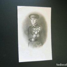Militaria: FOTOGRAFIA POSTAL DEL GOBERNADOR MILITAR DE SANTANDER CANDIDO FERNANDEZ ICHASO - VITORIA. Lote 62391844