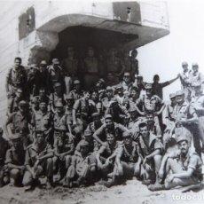 Militaria: FOTOGRAFÍA SOLDADOS DEL EJÉRCITO ESPAÑOL. FORTIFICACIÓN DE COSTA. Lote 264978069