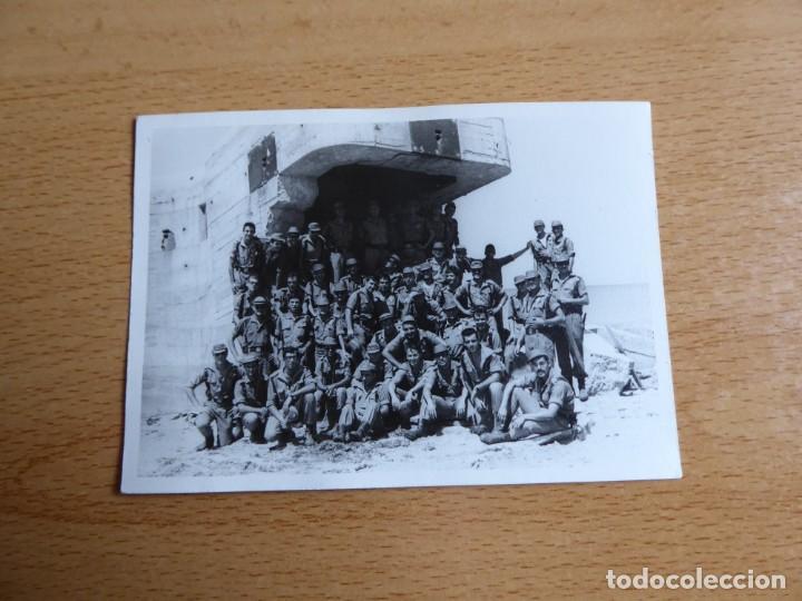 Militaria: Fotografía soldados del ejército español. Fortificación de costa - Foto 2 - 264978069