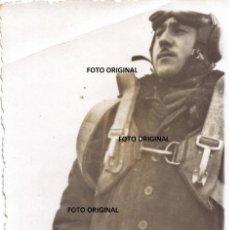 Militaria: RARA FOTO PILOTO CAZA ALEMAN LEGION CONDOR AERODROMO SANJURGO ZARAGOZA GUERRA CIVIL. Lote 265200279