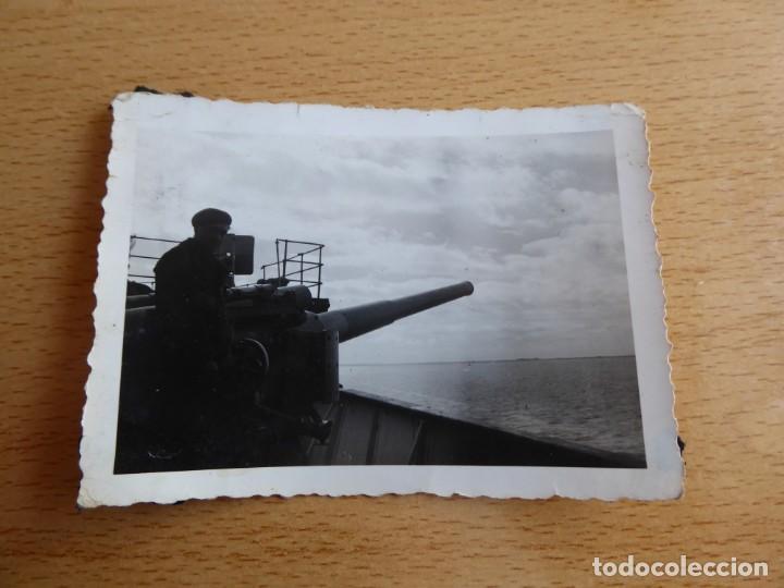 Militaria: Fotografía crucero auxiliar vapor artillado V Puchol Armada Nacional. - Foto 2 - 265555219