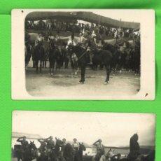 Militaria: DOS FOTOGRAFÍAS DE MILLÁN ASTRAY A CABALLO. Lote 267220899