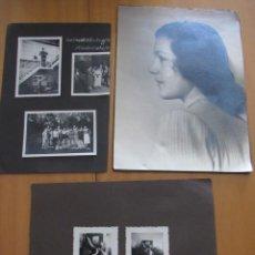 Militaria: LOTE DE OCHO FOTOGRAFIAS DE CIVILES ALEMANES Y SOLDADOS DE NEGRO DE LA ALLGEMEINE SS, AÑO 1934.. Lote 268573239
