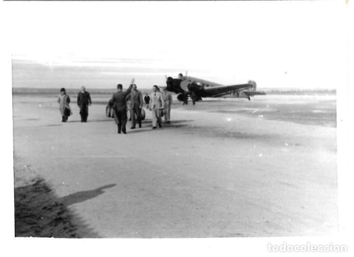 1937-38CA. FOTOGRAFÍA PROCEDENTE SOLDADO ALEMÁN. AVIÓN JUNKER. RECIBIMIENTO MIEMBROS LEGIÓN CÓNDOR (Militar - Fotografía Militar - Guerra Civil Española)