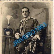Militaria: ANTIGUA FOTOGRAFIA, SOLDADO DE CABALLERIA, CAZADORES MARÍA CRISTINA , 84X112MM. Lote 268800614