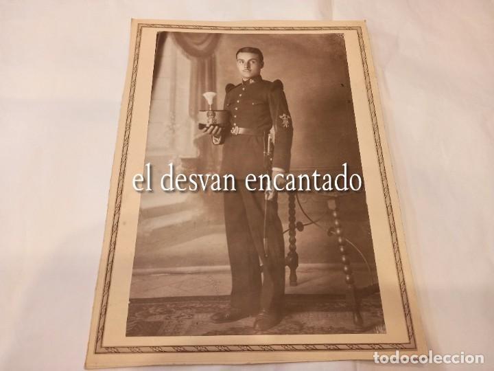 Militaria: Antigua foto Soldado época Alfonsina. Uniforme de gala. 22 x 15 ctms - Foto 2 - 268828534