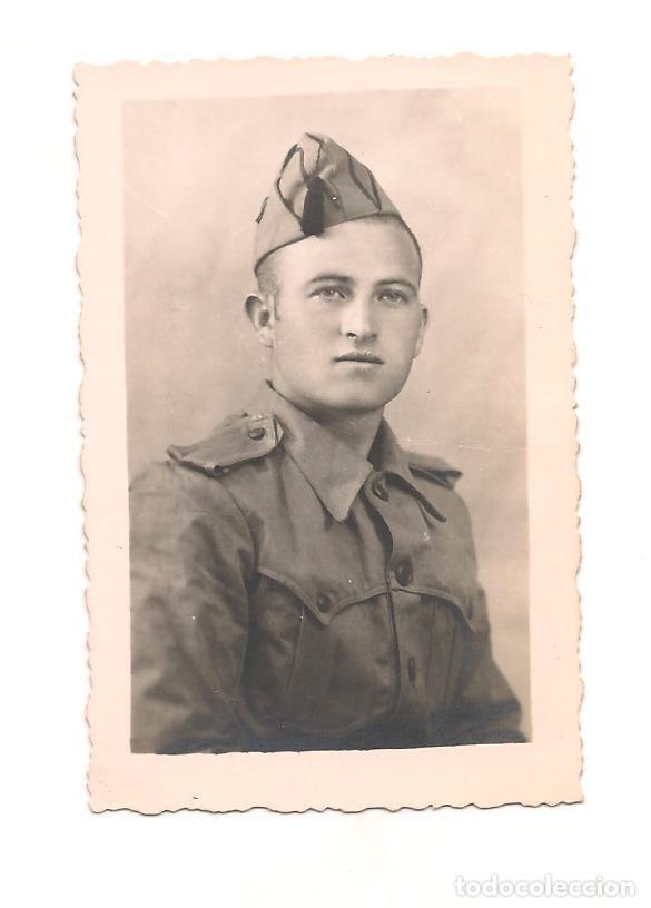 SOLDADO ESPAÑOL EN FECHA 9 DE MAYO DE 1944. DEDICATORIA (Militar - Fotografía Militar - Otros)
