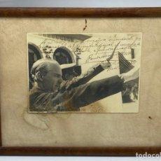 Militaria: RAMON SERRANO SUÑER. BURGOS, 1938. COMANDANTE FIGUERAS. FIRMA Y DEDICATORIA.. Lote 269193023