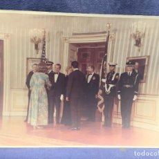 Militaria: FOTO CASA BLANCA OFFICIAL PHOTOGRAPH WHITE HOUSE WASHINGTON NIXON LOPEZ BRAVO 1970 28X35,5CMS. Lote 270935958