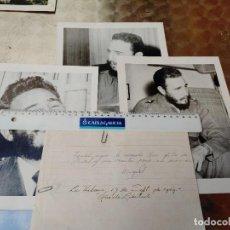 Militaria: CUBA 3. FOTOS ORIGINALES FIDEL CASTRO ENVIADAS EN 1959 A ESPAÑA BUEN TAMAÑO. Lote 271702303