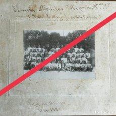 Militaria: ANTIGUA FOTOGRAFÍA. ESCUELA MILITAR ALFONSO XIII DE VALENCIA. FOTÓGRAFO M.GARCÍA. AÑO 1921.. Lote 274882593