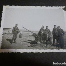 Militaria: TORREJON DE VELASCO MADRID GUERRA CIVIL BATERIA ANTIAEREA FOTOGRAFIA POR SOLDADO LEGION CONDOR. Lote 275034103