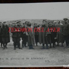 Militaria: FOTOGRAFIA DEL GENERAL SILVESTRE, GRUPO EN LA POSICION DE AMESDAN EL 23 DE NOVIEMBRE DE 1920, GUERRA. Lote 275504563