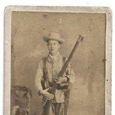 Militaria: (MI-210710)FOTOGRAFIA GUERRA DE CUBA-FUSIL MAUSER MOD.1893 CON BAYONETA-MACHETE. Lote 276378733