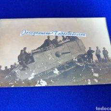 Militaria: TANQUE CON SOLDADOS MELILLA 1924 FOTO POSTAL. Lote 276650543