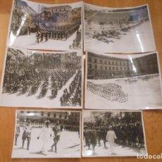 Militaria: 6 FOTOGRAFIAS CON BENITO MUSSOLINI PASANDO REVISTA MILITAR MILAN ITALIA MOTOS - ORIGINAL. Lote 276755578