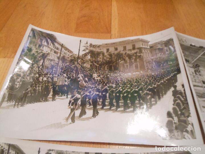Militaria: 6 FOTOGRAFIAS CON BENITO MUSSOLINI PASANDO REVISTA MILITAR MILAN ITALIA MOTOS - ORIGINAL - Foto 2 - 276755578