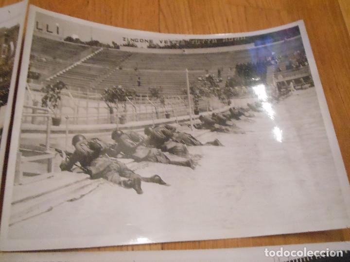 Militaria: 6 FOTOGRAFIAS CON BENITO MUSSOLINI PASANDO REVISTA MILITAR MILAN ITALIA MOTOS - ORIGINAL - Foto 3 - 276755578