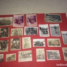 Militaria: LOTE DE 21 FOTOGRAFÍAS MILITARES ANTIGUAS - LAS MÁS ANTIGUAS TOMADAS EN MAHON ( BALEARES ). Lote 276966458