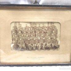 Militaria: FOTOGRAFIA REGIMIENTO DE INFANTERIA ARAGON Nº 21 ZARAGOZA AÑO 1909. MED 35 X 27 CM. Lote 277051098