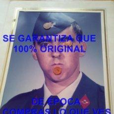 Militaria: RETRATO SOLDADO AVIACION PROCEDE DE MERIDA FANY COLOR CAMAS UMBRETE 26 CM FOTOGRAFIA E21. Lote 277139573