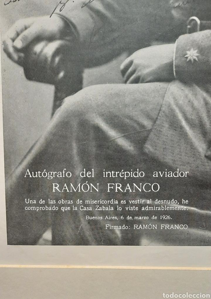 Militaria: Ramón Franco plus ultra foto autógrafa - Foto 2 - 277502238