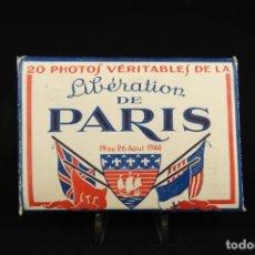 Militaria: LOTE 20 FOTOGRAFÍAS LIBERACIÓN DE PARIS 1944. Lote 277731008
