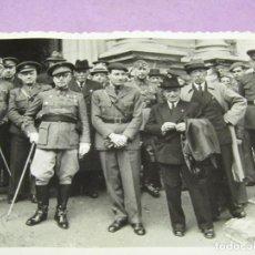 Militaria: ANTIGUA FOTOGRAFÍA DEL GENERAL GIL YUSTE Y ALTOS CARGOS EN GUERRA CIVIL ESPAÑOLA - AÑO 1936-39. Lote 278400858