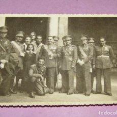 Militaria: ANTIGUA FOTOGRAFÍA DE ALTOS CARGOS MILITARES EN GUERRA CIVIL ESPAÑOLA - AÑO 1936-39. Lote 278401758