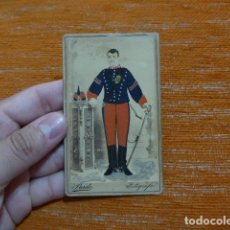 Militaria: ANTIGUA FOTOGRAFIA ESPAÑOLA DE MILITAR DEL REGIMIENTO 18, SIGLO XIX, ORIGINAL.. Lote 278535823
