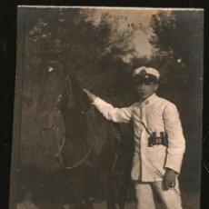Militaria: 1453 MILITARIA ARGENTINA SOLDADO DE INFANTERÍA DE MARINA CON CABALLO Y BINOCULARES FOTO 12X8CM 1930'. Lote 278639258