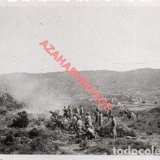 Militaria: GUERRA CIVIL, POSICIONES ARTILLERAS EN EL FRENTE DE CORDOBA,FOT.FIALLO DE SEVILLA,85X60MM. Lote 278682653