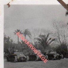 Militaria: GUERRA CIVIL, TANQUES,FOT.FIALLO DE SEVILLA,45X64MM. Lote 278682828
