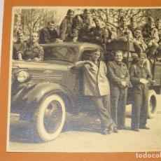 Militaria: FOTOGRAFÍA ORIGINAL DE LOS NACIONALES EN BARCELONA 1939 , 15X14,5CM. Lote 279510018