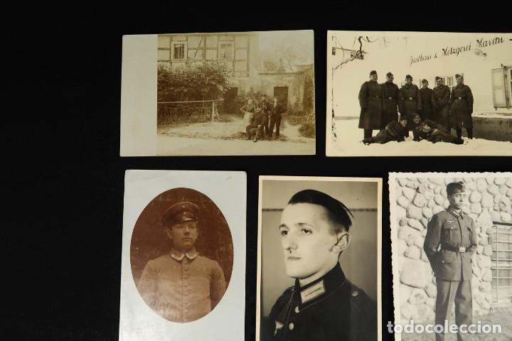 Militaria: Antiguo Conjunto de Fotografias de Soldados Alemanes y un Billete - Foto 2 - 284801653