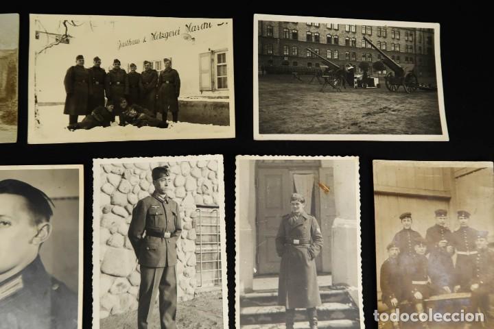 Militaria: Antiguo Conjunto de Fotografias de Soldados Alemanes y un Billete - Foto 3 - 284801653