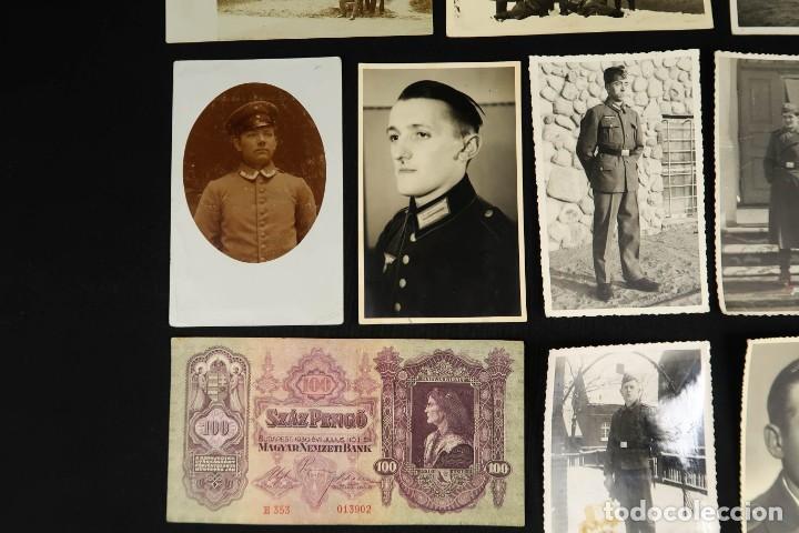 Militaria: Antiguo Conjunto de Fotografias de Soldados Alemanes y un Billete - Foto 4 - 284801653