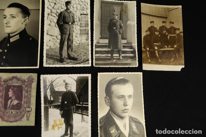 Militaria: Antiguo Conjunto de Fotografias de Soldados Alemanes y un Billete - Foto 5 - 284801653