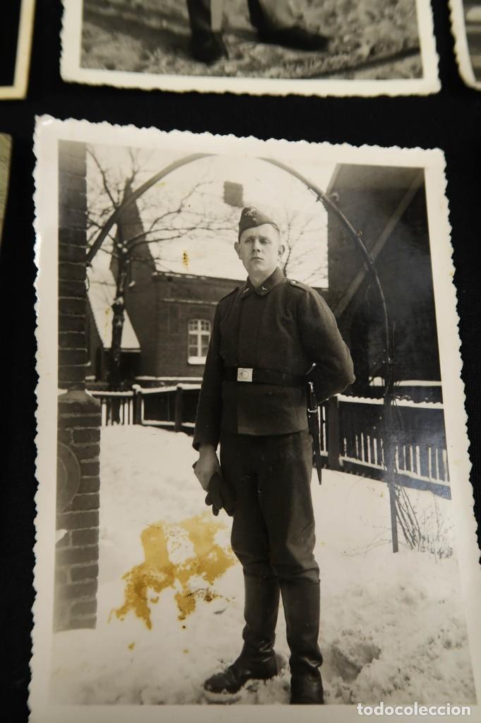 Militaria: Antiguo Conjunto de Fotografias de Soldados Alemanes y un Billete - Foto 6 - 284801653
