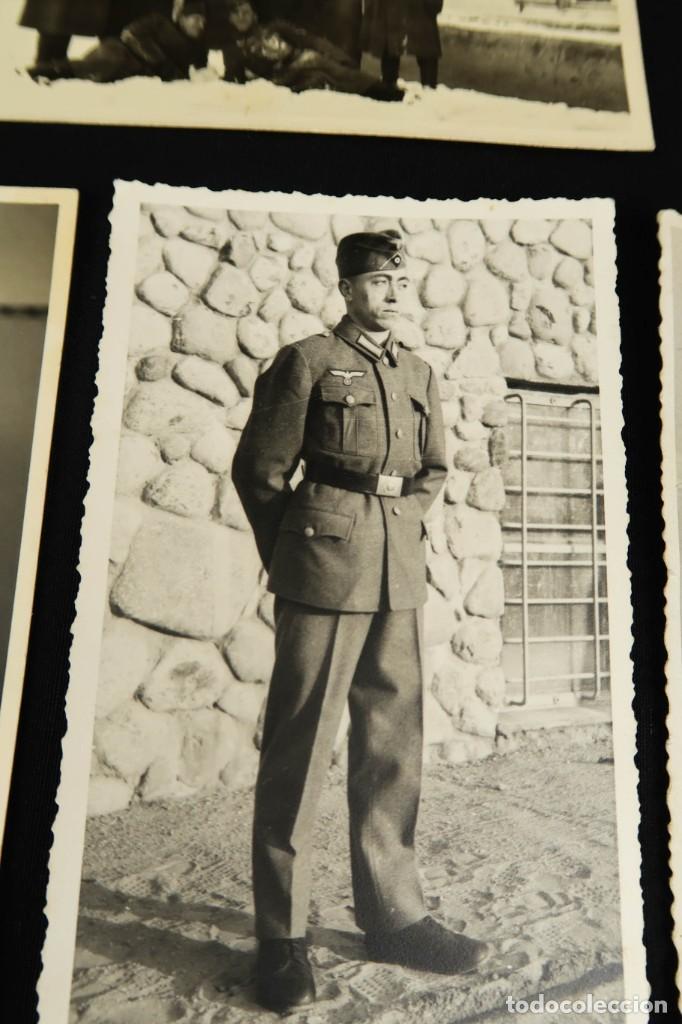Militaria: Antiguo Conjunto de Fotografias de Soldados Alemanes y un Billete - Foto 8 - 284801653