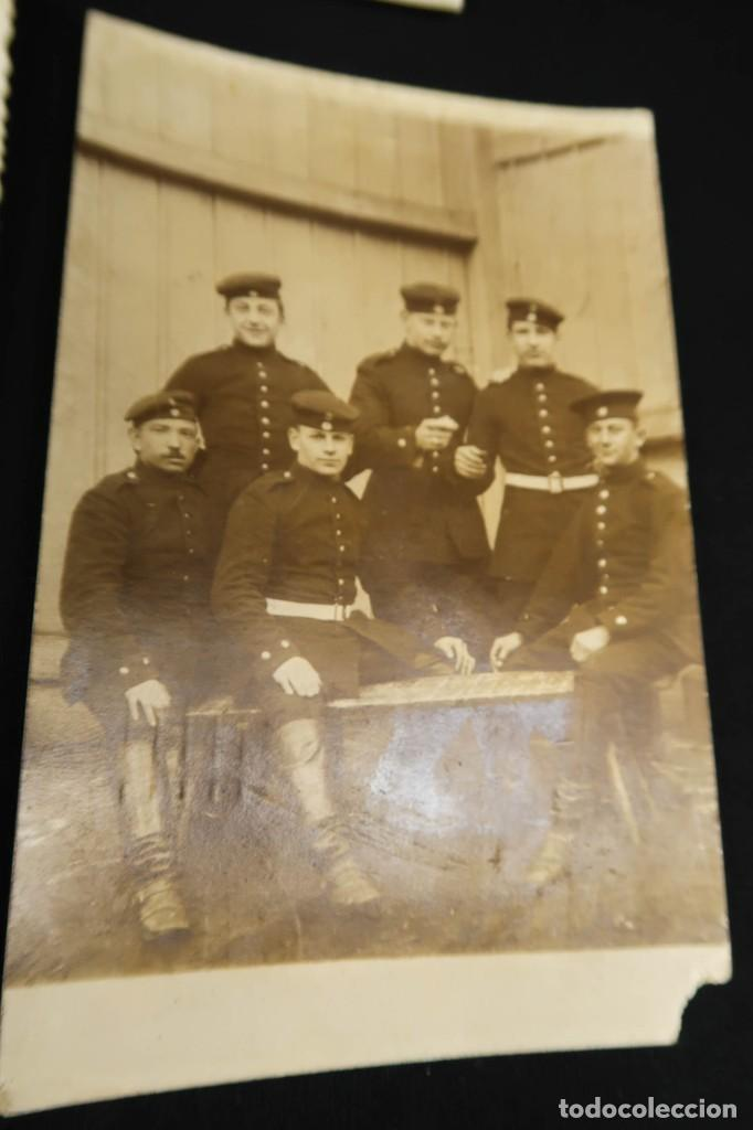 Militaria: Antiguo Conjunto de Fotografias de Soldados Alemanes y un Billete - Foto 10 - 284801653