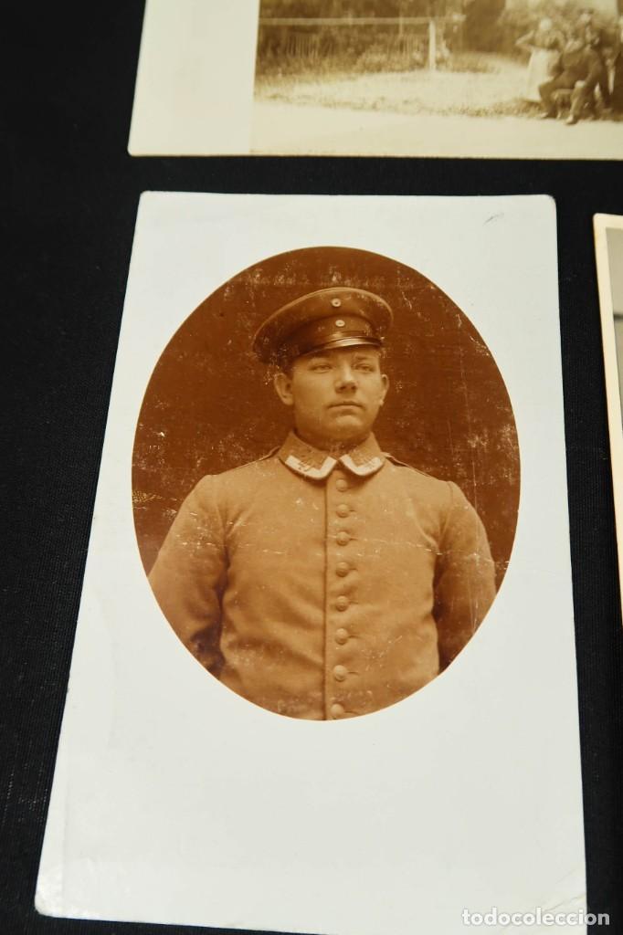 Militaria: Antiguo Conjunto de Fotografias de Soldados Alemanes y un Billete - Foto 12 - 284801653