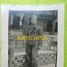 Militaria: FOTOGRAFIA SOLDADO EJERCITO POPULAR ,VOLUNTARIOS CATALANES , SAGUNTO 1937. Lote 286589548